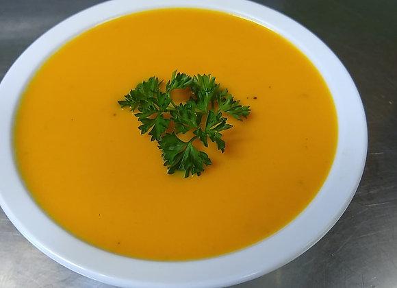 Crème de carotte 🥕 et pêche 🍑!!!