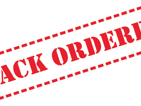 Product Backorders to Note