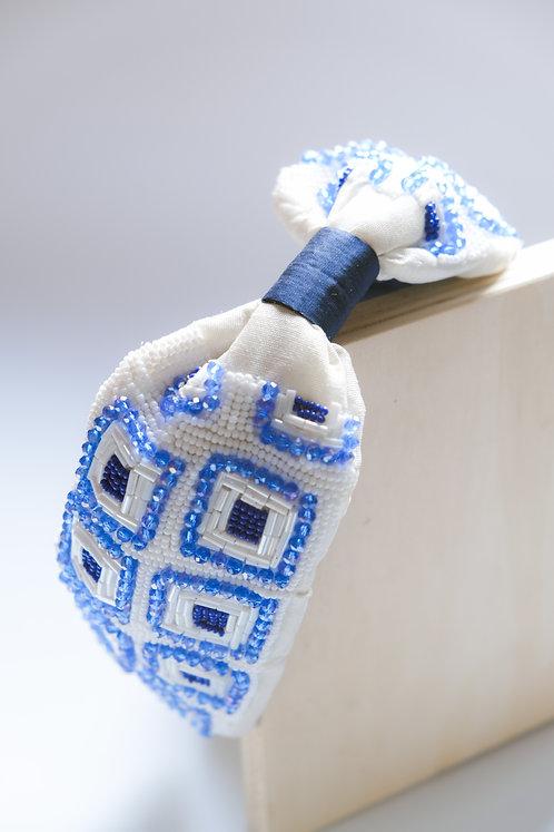 Cerchietto maiolica blu mediterraneo