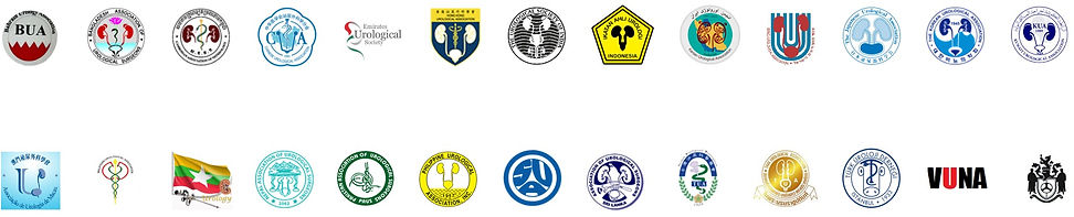 Urological Association of Asia Member Nations Associations Logos