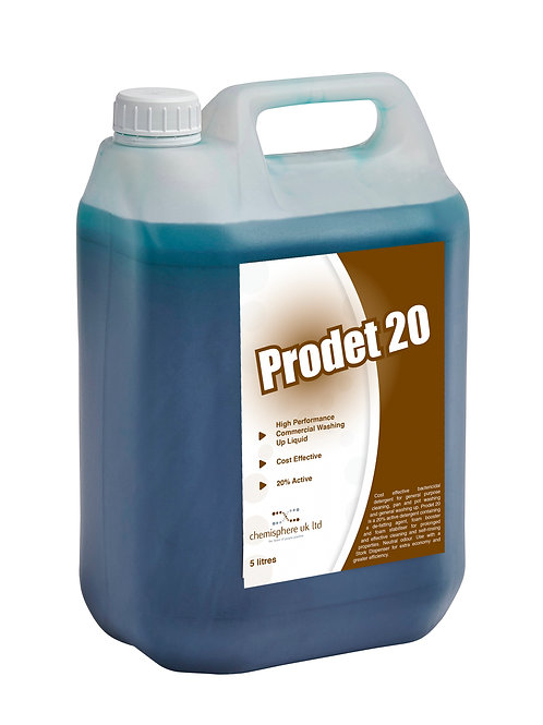 PRODET 20 (Case 2 x 5 Litres) - Washing up liquid and general purpose cleaner