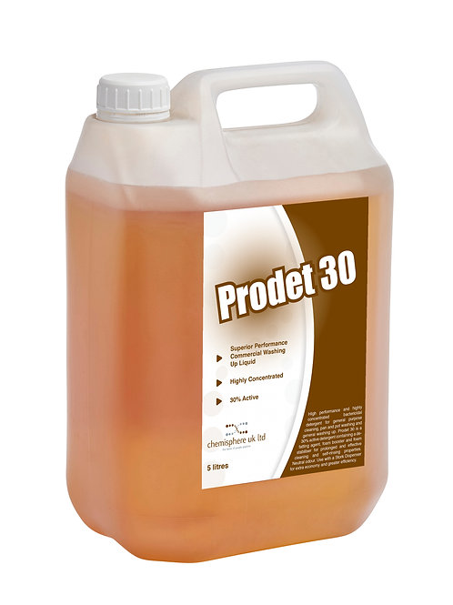PRODET 30 (Case 2 x 5 Litres) - Highly concentrated bactericidal detergent