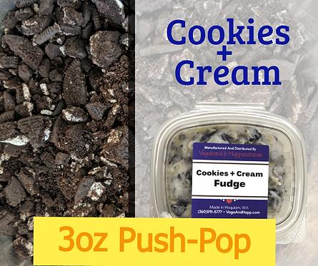 3oz Cookies + Cream Fudge Push-Pop