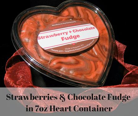 Strawberries + Chocolate Fudge