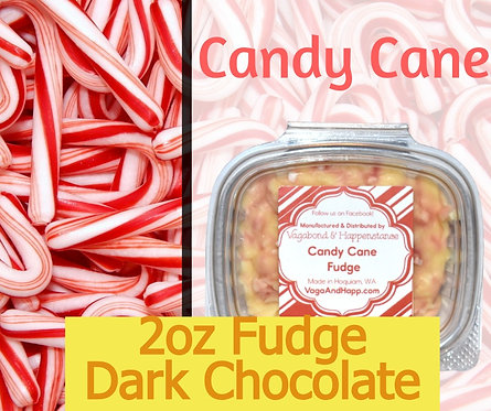 2oz Dark Chocolate Candy Cane Fudge