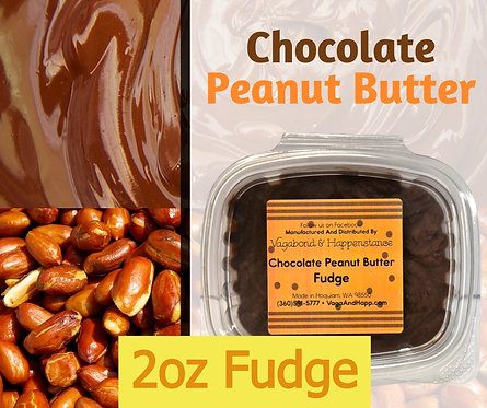 2oz Chocolate Peanut Butter Fudge