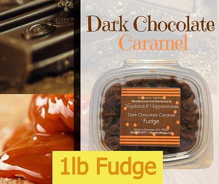 1lb Dark Chocolate Caramel Fudge