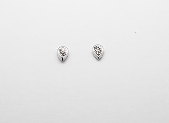 Boucles d'oreilles poires pavages Diamants