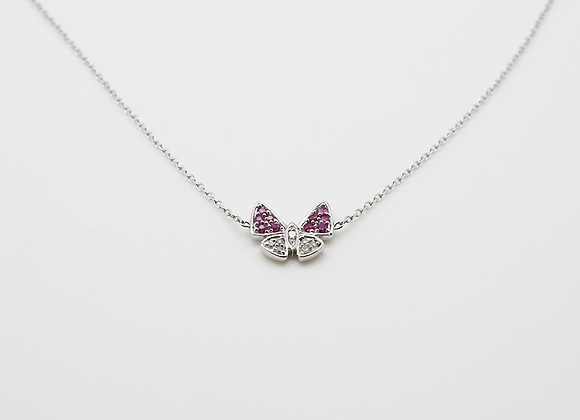Collier Saphirs rose et Diamants