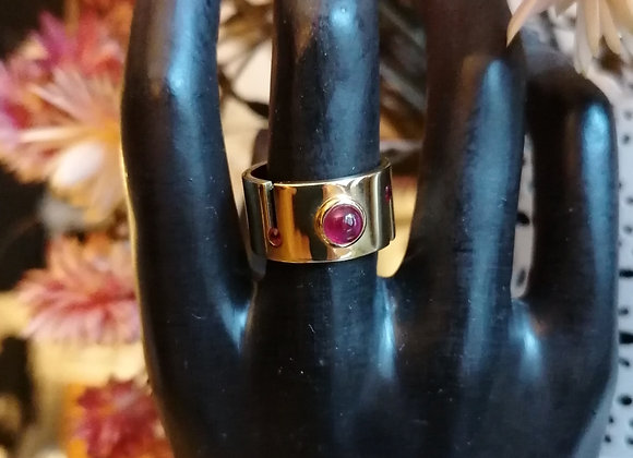 bague ruban or jaune rubis