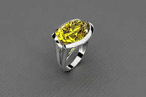 bague topaze jaune or blanc. dominique médina.