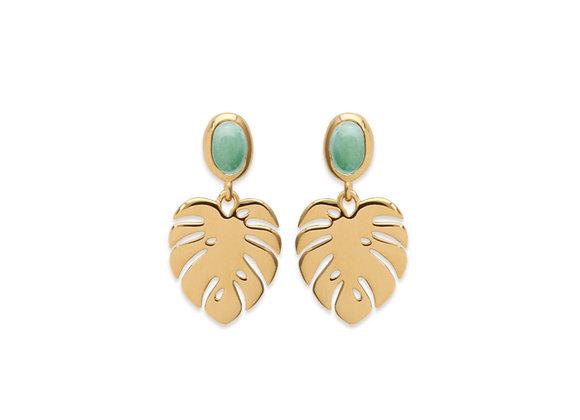 boucles d'oreilles pendantes plaqué or