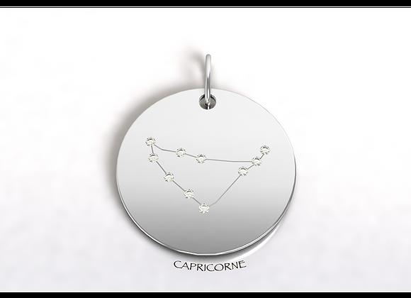 Médaille CAPRICORNE constellation  or et diamants