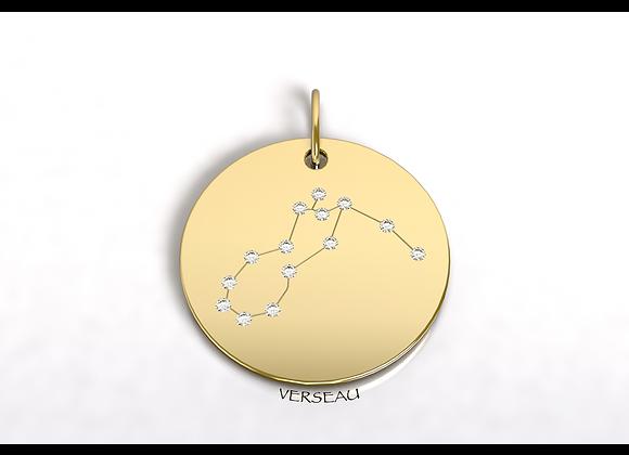 Médaille VERSEAU constellation  or et diamants