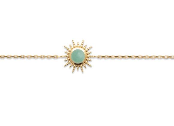 bracelet souple plaqué or Aventurine