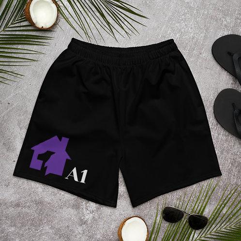 Men's Athletic Long Shorts-B
