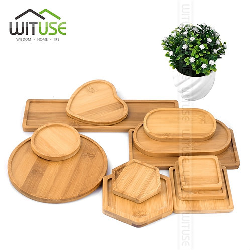 Bamboo Round Square Bowls & Plates