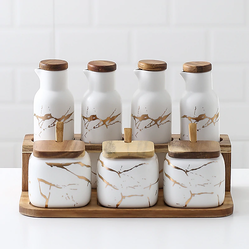 Marble Seasoning Set- Food Container
