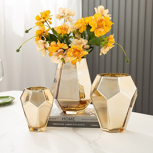 Golden Glass Vase