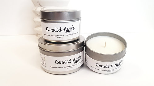 Candied Apples Natural Soy Candle   Hand-Poured and Hand-Crafted