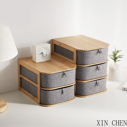Multifunctional Storage Box  Bamboo
