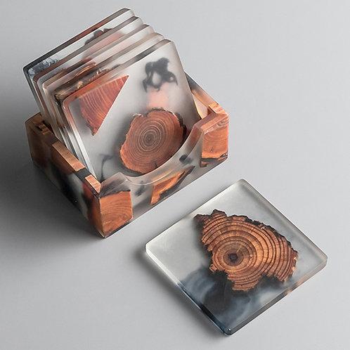 Resin Pine Coasters Heat-Resistant