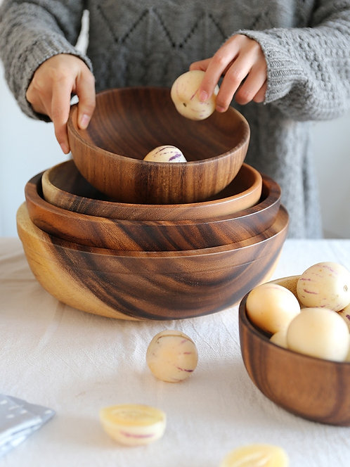 Wooden Bowl Japanese Style