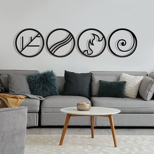 Metal Wall Decor and Art, Four Elements