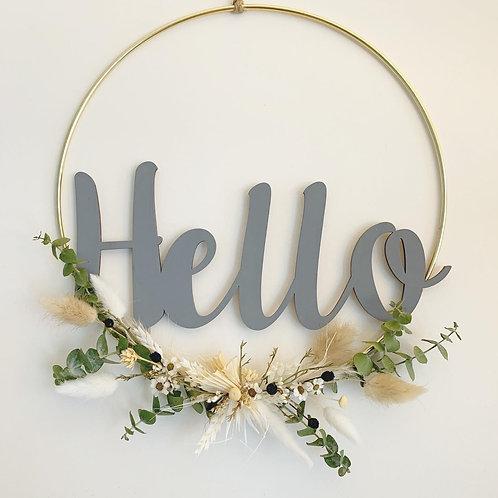 Hello Dried Flower Hoops