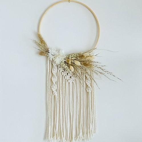 """10"""" Dried Flower + Macrame Hoops"""