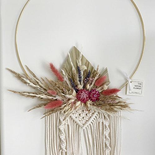 """12"""" Dried Flower + Macrame Hoops"""