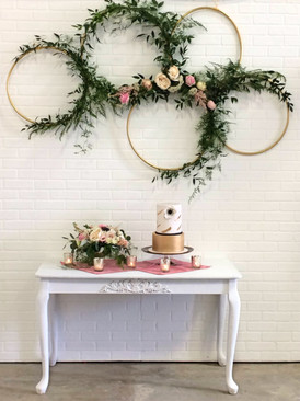 Hoops + White Table