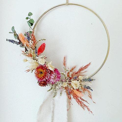 """12"""" Dried Flower Hoop"""