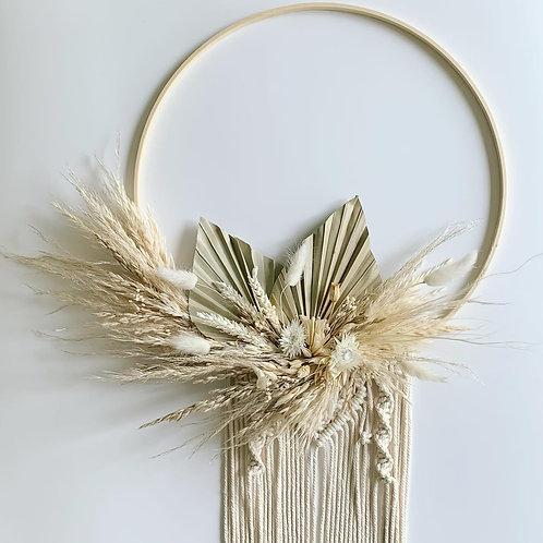 """14"""" Dried Flower + Macrame Hoops"""