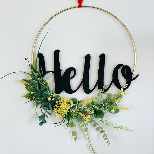 Hello Faux Flower Hoops