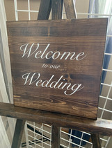 Wooden Welcome Sign and Easel
