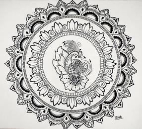 D503  Swan Mandala