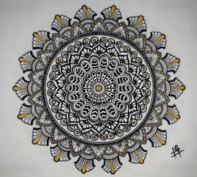 D506  Golden Mandala
