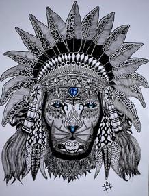 D505  Lion face