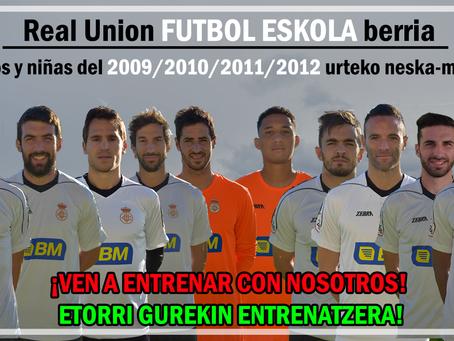 Real Union futbol eskola berria