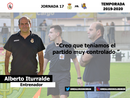 Jornada 17. Rueda de prensa post de Alberto Iturralde