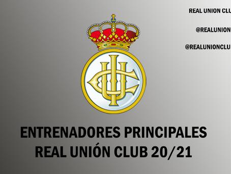 Entrenadores principales Real Unión Club 20/21