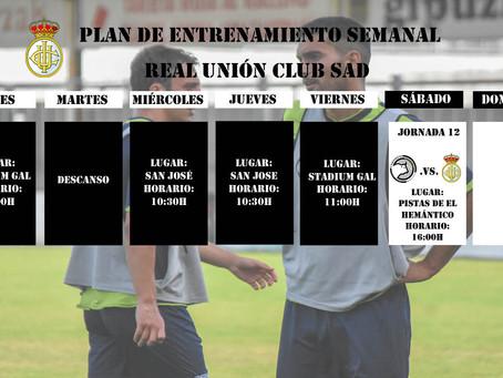 Plan de entrenamiento semanal