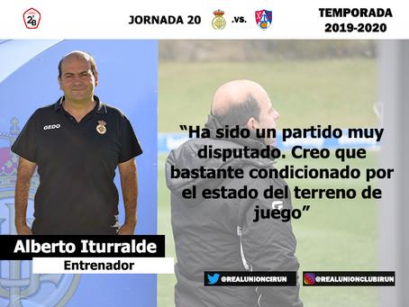 Jornada 20. Rueda de prensa post de Alberto Iturralde