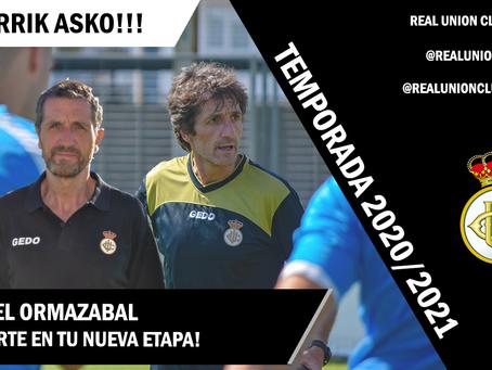 Mikel Ormazabal no continúa en el Real Unión Club
