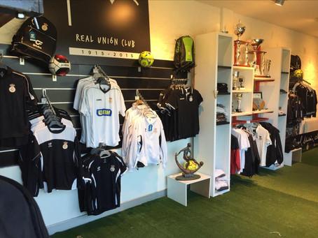 ¡Ya están los nuevos productos disponibles en la tienda del Real Unión Club!
