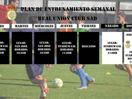 Plan de entrenamiento del primer equipo