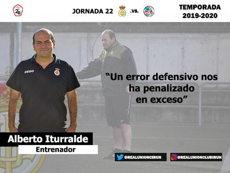Jornada 22. Rueda de prensa post de Alberto Iturralde