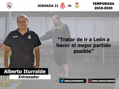 Jornada 21. Rueda de prensa previa de Alberto Iturralde