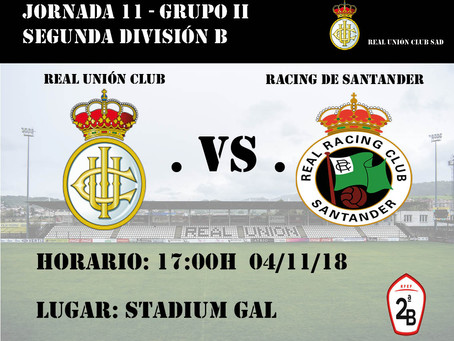 JORNADA 11: Real Unión Club - Racing de Santander